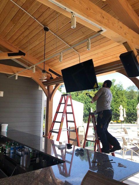 Springhaven Club's outdoor TVs